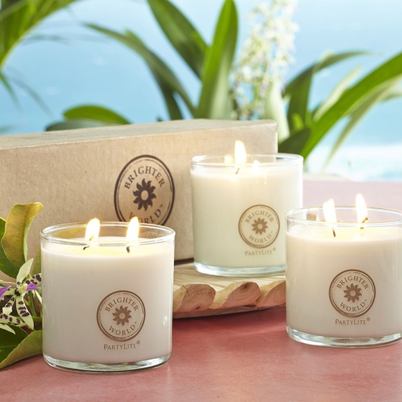 PartyLite Brighter World Scented Jar Candle Trio
